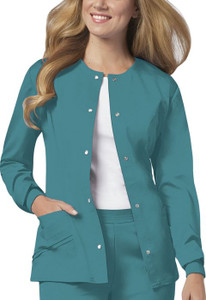(1330) Cherokee Luxe Scrubs - Snap Front Warm-Up Jacket
