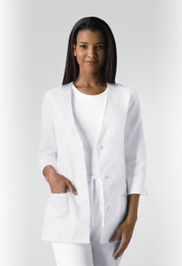 (1491) Cherokee Fashion Solids Scrubs - 3/4 Sleeve Embroidered Jacket