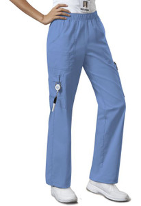 (4005) Cherokee Workwear Scrubs Core Stretch - Mid Rise Pull-On Pant Cargo Pant