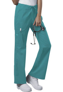 (4044) Cherokee Workwear Scrubs Core Stretch - Mid Rise Drawstring Cargo Pant