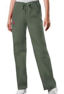 (4100T) Cherokee Workwear Scrubs Originals Unisex Drawstring Cargo Pant (Tall)