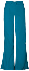 (4101P) Cherokee Workwear Scrubs Originals Natural Rise Flare Leg Drawstring Pant (Petite)