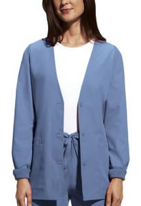 (4301) Cherokee Workwear Scrubs Originals - Cardigan Warm-Up Jacket