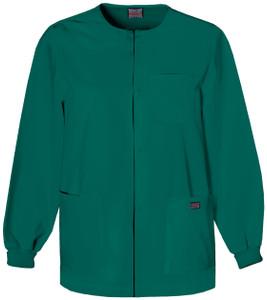 (4450C) Cherokee Workwear Scrubs Originals Mens Snap Front Warm-Up Jacket