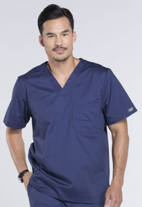 (4743) Cherokee Workwear Scrubs Core Stretch Mens V-Neck Top
