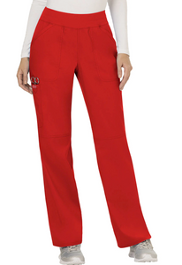 (WW110) Cherokee Workwear Revolution Scrubs - WW110 Mid Rise Straight Leg Pull-on Pant