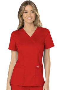 (WW610) Cherokee Workwear Revolution Scrubs - WW610 Mock Wrap Top