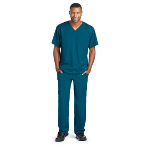 (SK0112) Skechers Men's Structure  V-Neck Scrub Top
