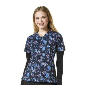 1780b1daada C12514-HDH) Carhartt Cross-Flex Hidden Heart V-neck Print Scrub Top ...
