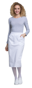 "(WW510) Cherokee Workwear Professionals 30"" Knit Waistband Skirt"