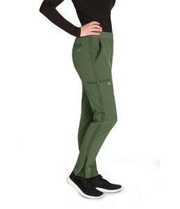 (BWP505) Barco One Wellness Women's 5 Pocket Knit Waist Cargo Pant