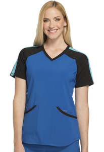 (CK690A) Cherokee Infinity Colorblock V-Neck Top