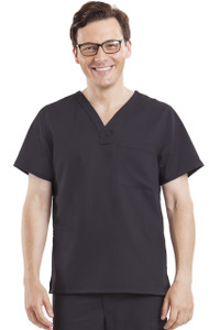 (2223) Healing Hands Blue Label Men's James 1 Pocket Scrub Top