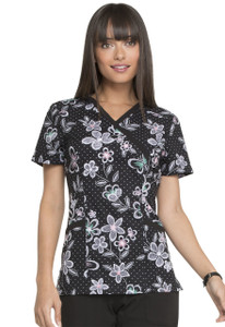 (EL602-WGBL) Elle Wings in Bloom Print Top