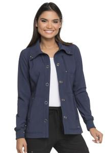 (DK345) Dickies Advance Tonal Twist Snap Front Jacket