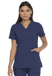 (DK755) Dickies Advanced Tonal Twist V-Neck Scrub Top With Patch Pockets
