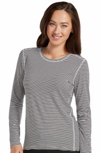 (8522) Med Couture Activate Performance Knit Stripe Tee