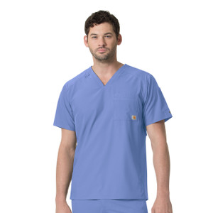 (C15106) Carhartt Liberty Men's Slim Fit V-Neck Scrub Top