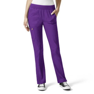 (5114) WonderWink Four-Stretch Flexi Elastic Waist Cargo Scrub Pant