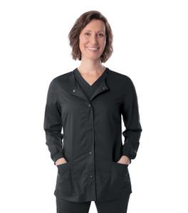 (3038) Landau Proflex Snap Front Scrub Jacket