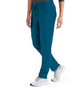 (BWP506) Barco One Wellness 4 Pocket Contrast Panel Cargo Scrub Pants