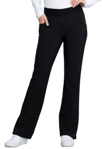 (CKK075P) Cherokee The Katie Duke Mid Rise Moderate Flare Leg Pull-on Pant (Petite)