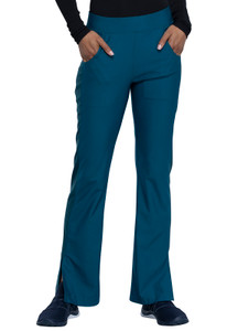 (CK091P) Form by Cherokee Mid Rise Moderate Flare Leg Pull On Pant (Petite)