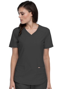 (CK840) Form by Cherokee V-Neck Top