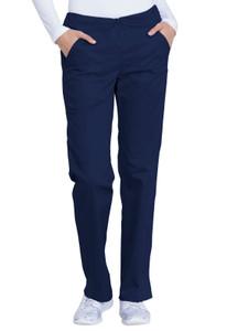 GD100P) Dickies Industrial Laundry Women's Mid Rise Straight Leg Drawstring Pant (Petite)
