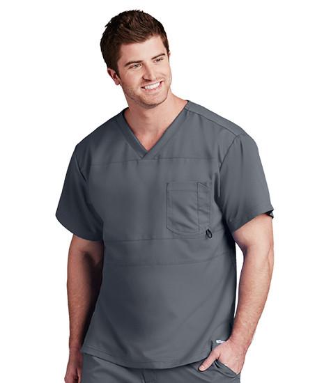 (0115) Barco One Scrubs -  Men's 4-Pocket V-neck Scrub Top