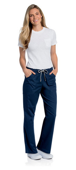 (2035) Landau Scrubs - All Day Full Elastic Cargo Scrub Pant