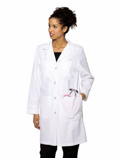 (3153) Landau Lab Coats - Lab Coat With Four Button Closure