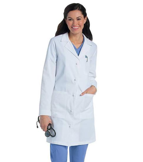 (3172) Landau Lab Coat Coats - Women's Knot Button Lab Coat