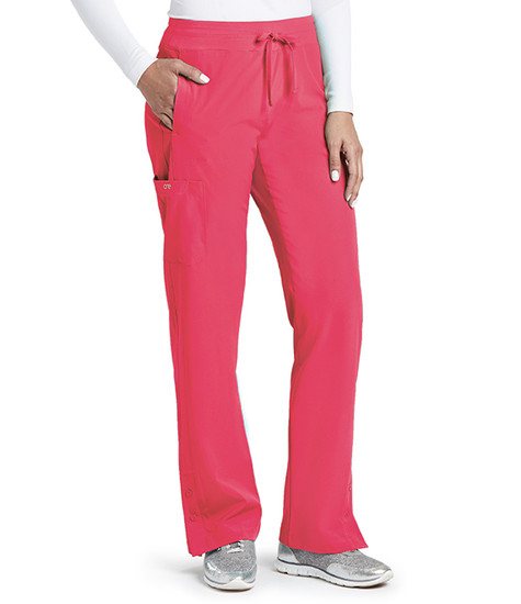 (5205) - Barco One Scrubs - 4 pocket Track Scrub Pant  Pink Lemonade