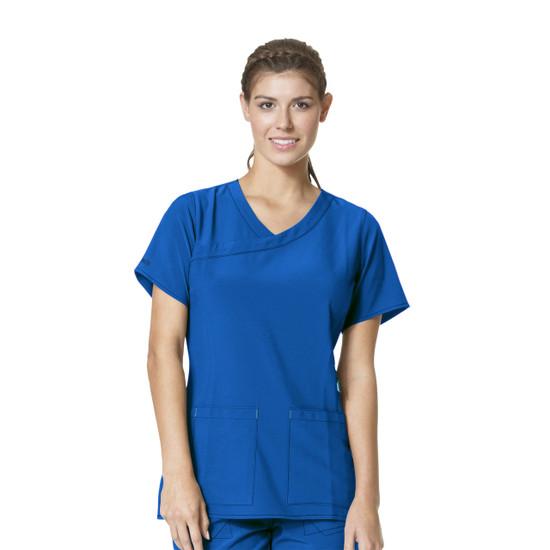 (C12210) Carhartt CROSS-FLEX Scrubs - Y-Neck Fashion Top