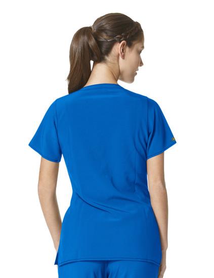(C12210) Carhartt CROSS-FLEX Scrubs - Y-Neck Fashion Top - Back