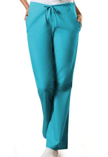 (4101) Cherokee Workwear Scrubs Drawstring Flare-Leg Scrub Pants