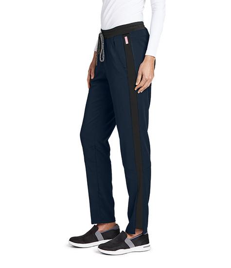 (GVSP501T) Grey's Anatomy Active Stretch 3 Pocket Midrise Knit Color Block Cargo Scrub Pant (Tall)