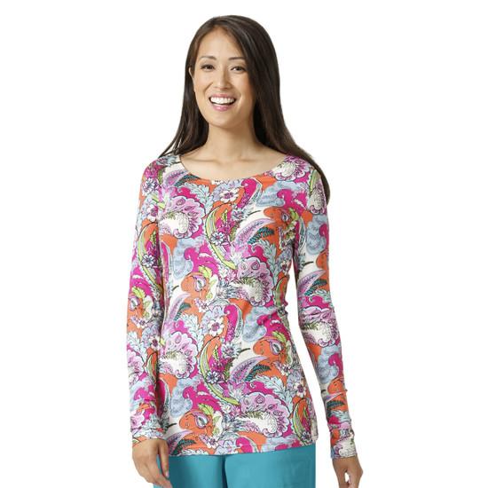 (V2107) Vera Bradley Signature Long Sleeve Knit Layer Print Tee