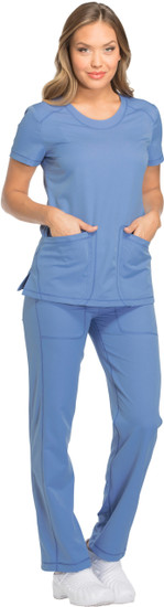 (DK720) Dickies Dynamix Shaped V-neck Scrub Top