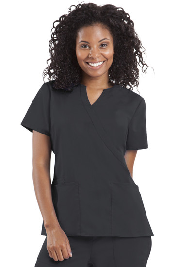 (2211) Healing Hands Purple Label Stretch Jaclyn Notched V-neck Crossover Scrub Top