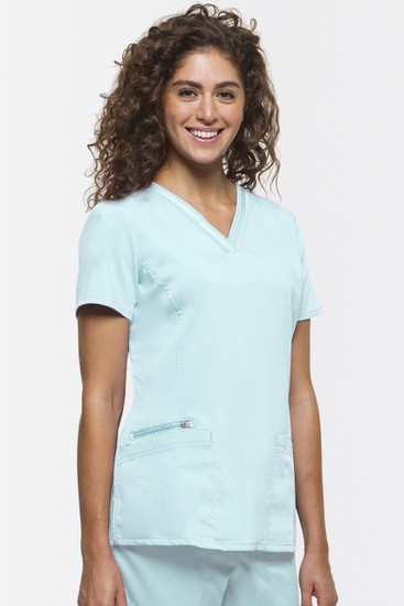 (2278) Healing Hands Purple Label Jasmin Fashion V-neck Scrub Top
