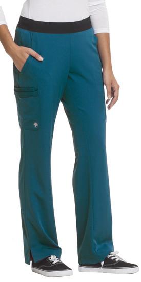 (9500P) Healing Hands HH Works Rachel 6 Pocket Straight Leg Yoga Waist Scrub Pant (Petite)