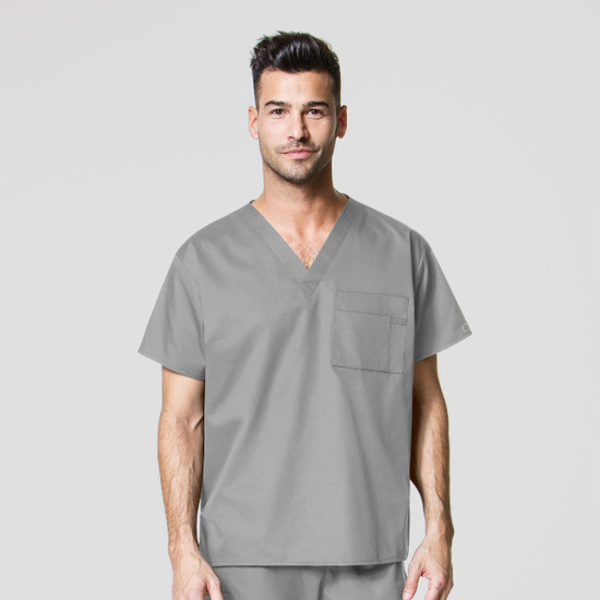(100W) WonderWink WonderWORK Scrubs - Unisex V-Neck Top