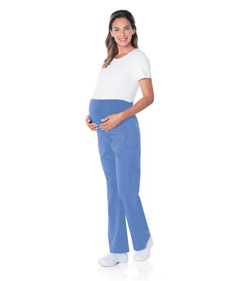 (4399) Landau ProFlex Maternity Crossover V-Neck Tunic Scrub Top