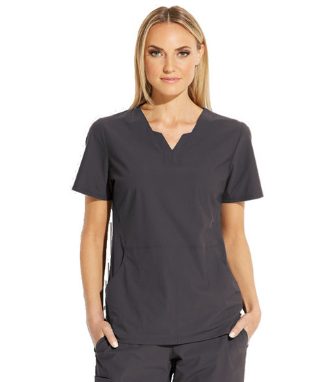 (GET013) Grey's Anatomy Edge Axis Split Neck Scrub Top