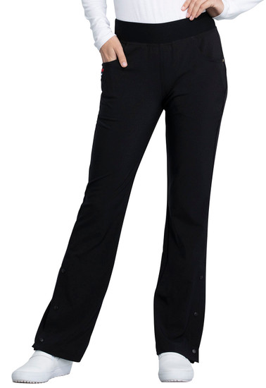 (CKK075) Cherokee The Katie Duke Mid Rise Moderate Flare Leg Pull-on Pant