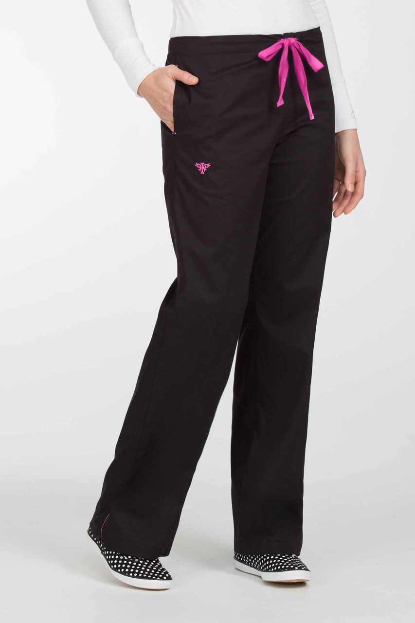 New Med Couture Women/'s 8705 Drawstring//Elastic Scrub Pant