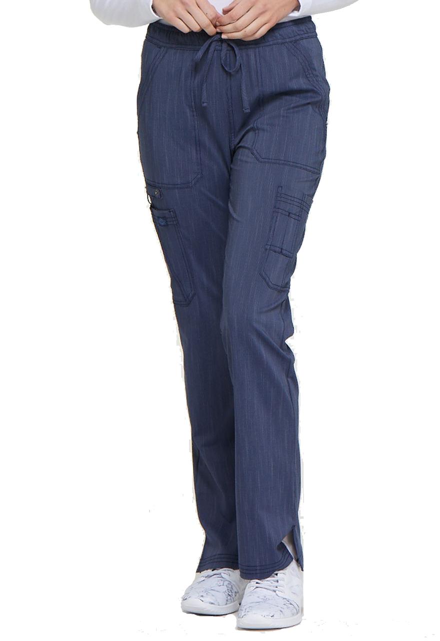 SBlack Dickies Scrubs Advance Mid Rise Boot Cut Drawstring Pants DK200 BLK