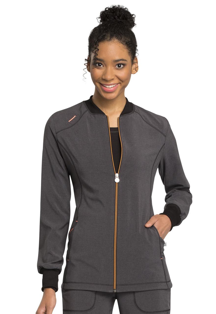 Cherokee Infinity Zip Front Warm-up Jacket 2391A BAPS Black Free Shipping